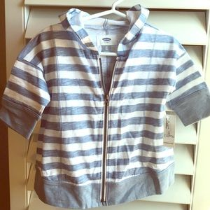 Old Navy blue striped zip up 2T